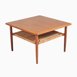Mesa de centro de teca de Gunnar Schwartz, años 60