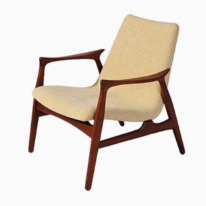 Moderner dänischer Sessel mit Gestell aus Teak von Arne Hovmand-Olsen für Mogens Kold, 1950er