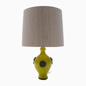 Lámpara de mesa esmaltada de Ugo Zaccagnini, años 60