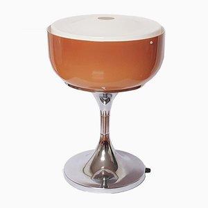 Lámpara de mesa Medusa marrón de Luigi Massoni para Guzzini, 1972