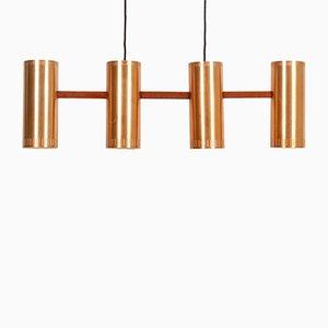 Lampe à Suspension Cylindrique IV par Johannes Hammerborg pour Fog & Mørup, années 60