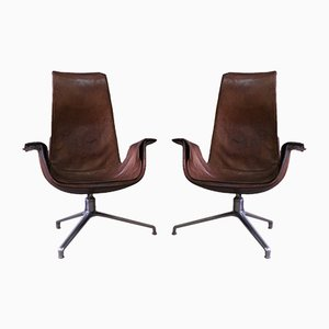 Swivel Tulip Chairs by Preben Fabricius & Jørgen Kastholm for Kill International, 1960s, Set of 2