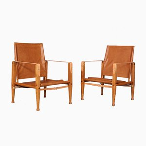 Safari Lounge Chairs by Kaare Klint for Rud. Rasmussen, 1960s, Set of 2