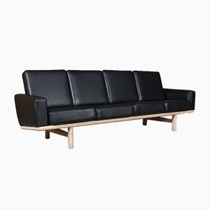 Modell 236/4 Sofa aus Eiche & Leder von Hans J. Wegner für Getama, 1960er