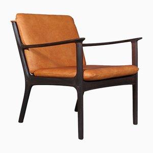 PJ112 Armlehnstuhl mit Gestell aus Palisander von Ole Wanscher für Poul Jeppesens Møbelfabrik, 1960er