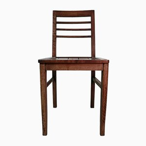Wooden Chair by René Gabriel, 1940s