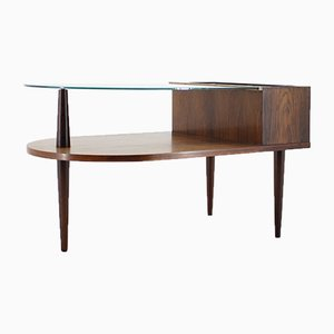 Rosewood and Glass Coffee Table and Plant Holder from CFC Silkeborg, 1960s