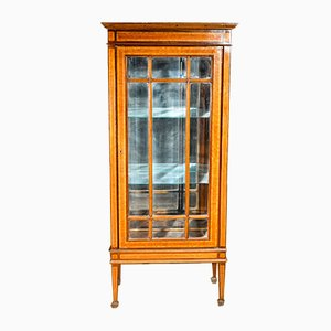 Antique Napoleon III Walnut Showcase, 1880s