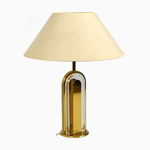 Large Brass and Glass Table Lamp from Vereinigte Werkstätten Collection, 1970s