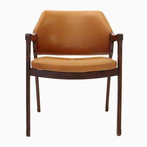 Schreibtischstuhl mit Lederbezug von Ico Luisa Parisi für Cassina, 1960er
