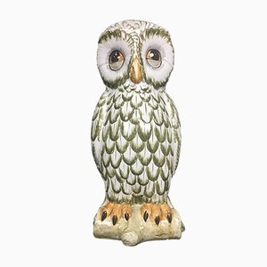 Ceramic Owl Umbrella Stand, 1960s
