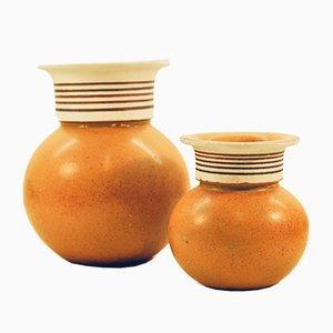 Vasen von Margareta Hennix für Gustavsberg, 1970er, 2er Set