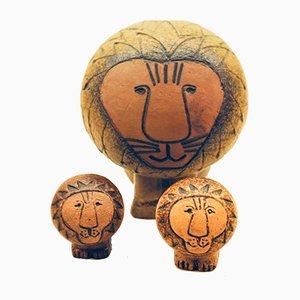 Löwenskulpturen von Lisa Larson für Gustavsberg, 1960er, 3er Set