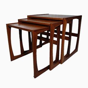 Tavolini ad incastro Quadrille in teak di Victor Wilkins per G-Plan, anni '60