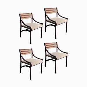 110 Esszimmerstühle aus Palisander von Ico Parisi für Cassina, 1950er, 4er Set