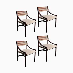 Rosewood 110 Dining Chairs by Ico Parisi for Cassina, 1950s, Set of 4