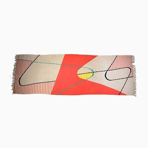 Tappeto modernista geometrico di Antonin Kybal per Krasna Jizba, anni '40