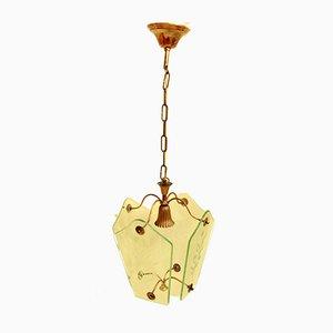 Grazia Deckenlampe aus Kristallglas, 1950er