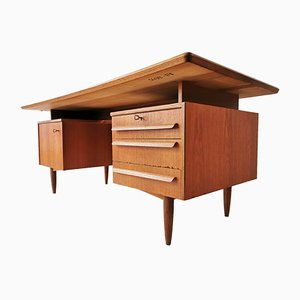 Vintage Teak Desk from Hilker, 1960s