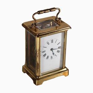 Horloge de Chariot en Bronze Doré, 19e Siècle