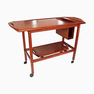 Scandinavian Teak Bar Cart, 1960s
