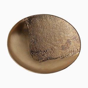 Plato de bronce de Antonella Caprio, años 70