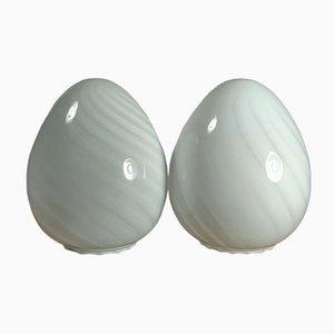 Small Murano Swirl Glass Egg Table Lamp, 1960s