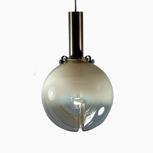 Swiss Ceiling Lamp from Fällander Glas, 1970s