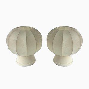 Cocoon Tischlampen von Castiglioni Brothers für Lichtstudio Eisenkeil, 1960er, 2er Set