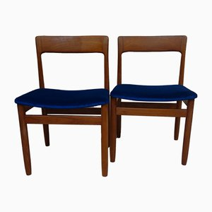 Swedish Teak Dining Chairs by Yngve Ekstrom Kontiki Troeds, 1970s, Set of 2
