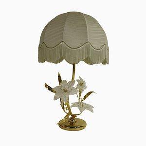 Lámpara de mesa con flores de cristal de Murano, años 70