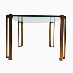Pioneer Glass and Cast Brass T24 Coffee Table by Peter Ghyczy, 1970s