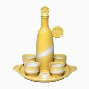 Liqueur Set by Franco Bucci for Laboratorio Pesaro, 1970s, Set of 6