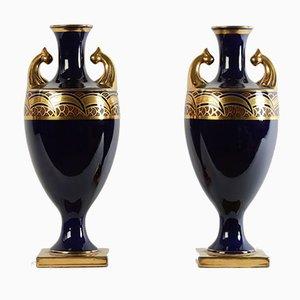 Vasi Amphora di Maurice Pinon per Atelier de Tours, anni '30, set di 2