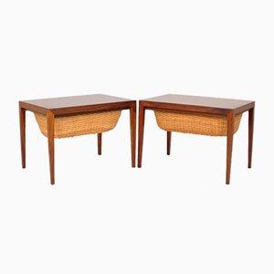 Tavolini in palissandro di Severin Hansen per Haslev Møbelsnedkeri, 1964, set di 2