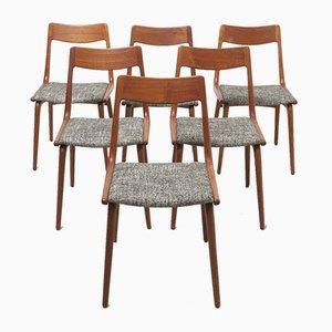 Chaises de Salle à Manger Boomerang Mid-Century par Alfred Christensen pour Slagelse Møbelværk, Set de 6