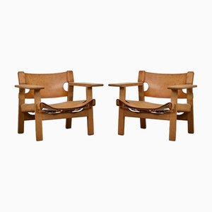 Model 2226 Spanish Chairs by Børge Mogensen for Fredericia, 1950s, Set of 2