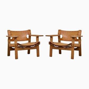 Spanische Modell 2226 Stühle von Børge Mogensen für Fredericia, 1950er, 2er Set