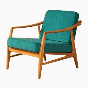 Sessel mit Gestell aus Kirschholz, 1950er