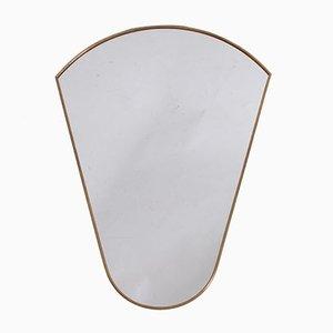 Mid-Century Brass Rimmed Mirror