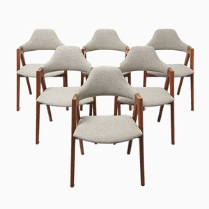 Mid-Century Dining Chairs by Kai Kristiansen for SVA Møbler, Set of 6