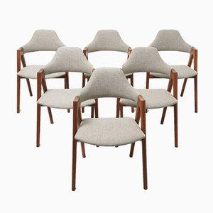 Mid-Century Esszimmerstühle von Kai Kristiansen für SVA Møbler, 6er Set
