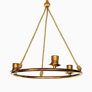 Vintage Art Deco Ceiling Lamp by Adolf Loos