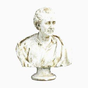 Antike französische Montesquieu Büste, 1880er