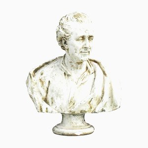 Antique French Montesquieu Bust Sculpture, 1880s