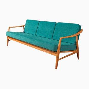 Sofa mit Gestell aus Kirschholz, 1950er