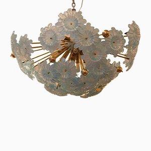 Lámpara de araña Sputnik vintage de cristal de Murano