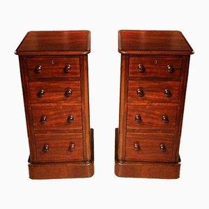 Antique Mahogany Nightstands, Set of 2