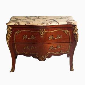 Cómoda estilo francesa Louis XV antigua de palisandro