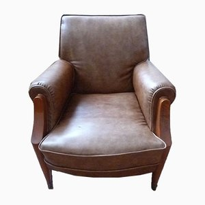 French Club Chair by Jules Leuleu, 1940s